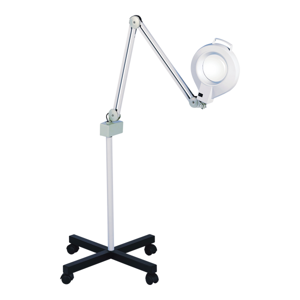 Diopter Magnifying Lamp on Roller Stand - Factory-Direct Clearance Sale