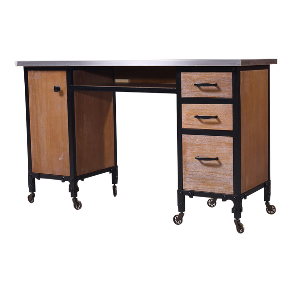 Gruene Rustic Double Manicure Table  - Factory-Direct Clearance Sale