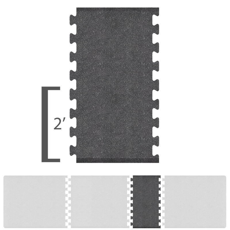 Bty Infinity Granite Spacer 2' X 2.25' - Steel Salon Mat