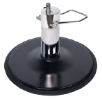 American-Made Black Round Base with White Pump