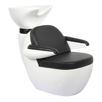 Ilena Hair Salon Black/White Shampoo Shuttle - Factory-Direct Clearance Sale