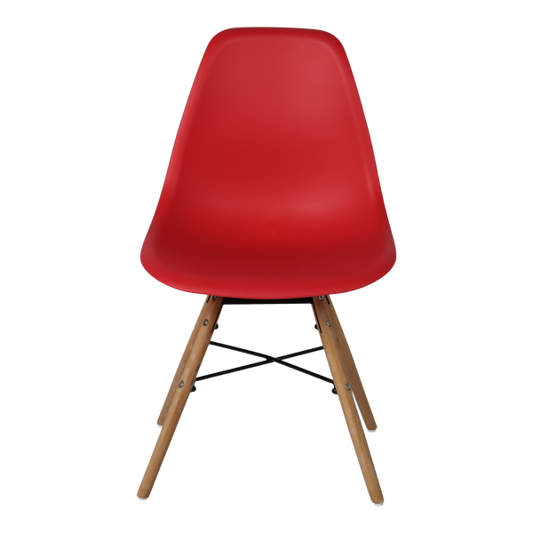 Modern Plastic Reception Chair - Red - Factory-Direct Clearance Sale