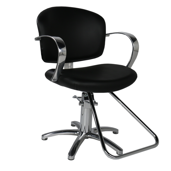Maletti Salon Italy: Globe Styling Chair - Black  -  Factory-Direct Clearance Sale