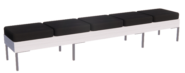 Rechteck American-Made Reception Bench - 5 Seat