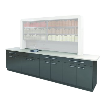Rechteck American-Made Lower Cabinet with Sink