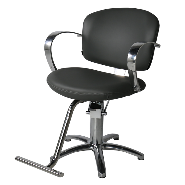 Maletti Salon Italy - Globe Hair Salon Styling Chair - Silver - Factory-Direct Clearance Sale