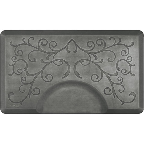Bty Designer Estates Bella Rectangle 3' X 5' - Silver Leaf Salon Mat