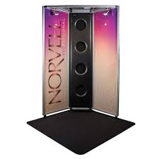Norvell Overspray Booth with Full Color Panel and 4' x 4' Floor Mat