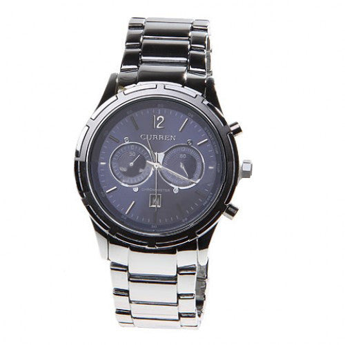 Curren Men's Stainless Steel Watch and Dual Chronograph (Blue 5cm Dial) - CUR068