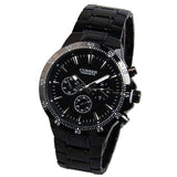Curren Men's Black Stainless Steel Chronograph (Black 4.8cm Dial) - CUR032