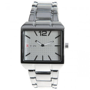 Curren Men's Watch with Stainless Steel Band (White 4cm Dial) - CUR004