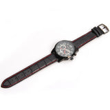 Curren Quartz Black Watch with Leather Band (Round 4.7cm Dial) - Unisex - CUR115