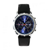 Curren Men's Watch with Black Leather Band (Sapphire 6cm Dial) - CUR031