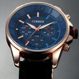 Curren Blue Dial Choronograph Watch (Blue Dial 4.4cm) - CUR 138