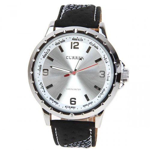 curren men s watch leather band polished metal 5 3cm dial curren men s watch leather band polished metal 5 3cm dial cur025