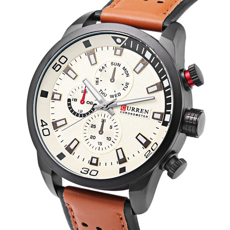 Curren Men's Sports Military Geniune Leather (Dial 4.5cm) - CUR119