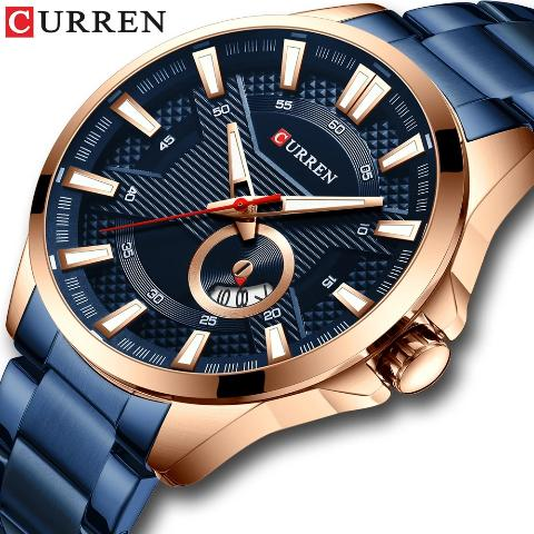 Curren Men's Round Date Watch (Dial 4.6cm) - CUR192