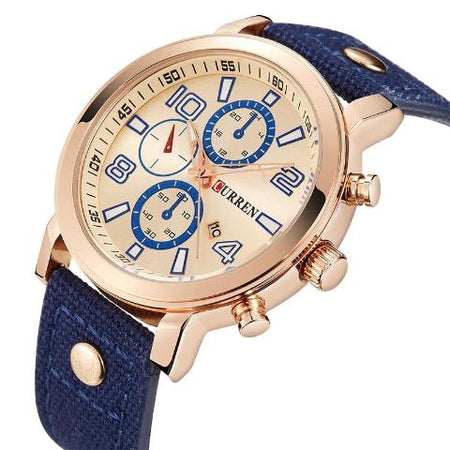 Curren Blue Band Watch (Dial 4.4cm) - CUR 169