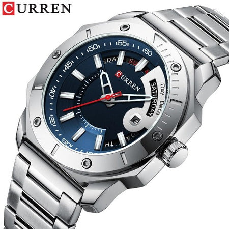 Curren Full Day Display Men's Watch (Dial 4.3cm) - CUR207