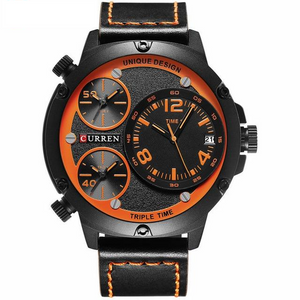 Curren Triple Time Zone Watch (Dial 5.2cm) - CUR171