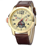 Curren Quartz Leather Strap Waterproof Watch ( Dial 4.6cm) - CUR126
