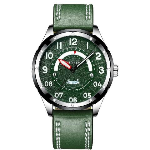 Curren Green Strap and Dial Watch (Dial 4.4cm) - CUR188