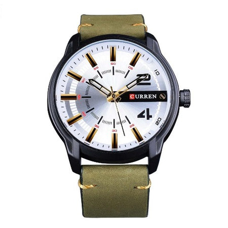 Curren Men's Green Military Waterproof Watch (Dial - 4.7cm) - CUR202