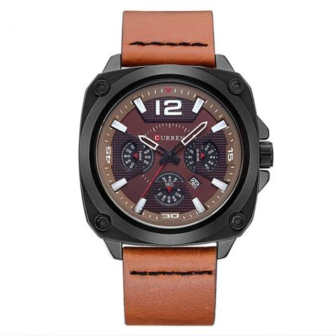 Curren PU Leather Square Watch (Dial 4.6cm) - CUR190