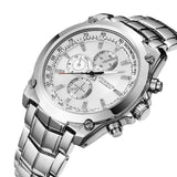 Curren Men's Stainless Steel Waterproof Chronograph (Dial 4.0cm) - CUR116