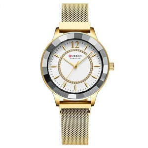 Curren Women's Blanche Crystal Watch (Dial 3.6cm) - CUR194