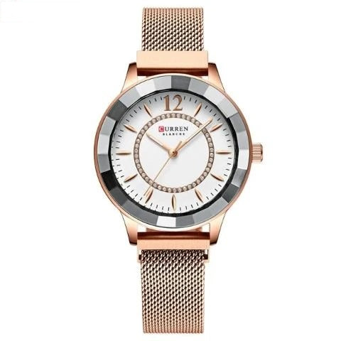 Curren Women's Blanche Crystal Watch (Dial 3.6cm) - CUR195