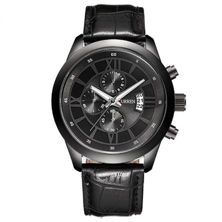 Curren Men's Full Black Watch (Dial 4.3cm) - CUR203