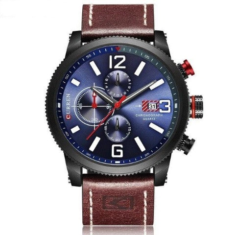 Curren Premium Chronograph Men's Watch (Dial 4.6cm) - CUR206