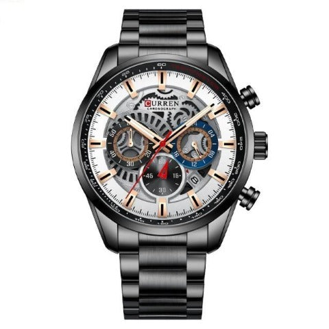 Curren Men's Full Steel Chronograph Watch (Dial 4.5cm) - CUR212