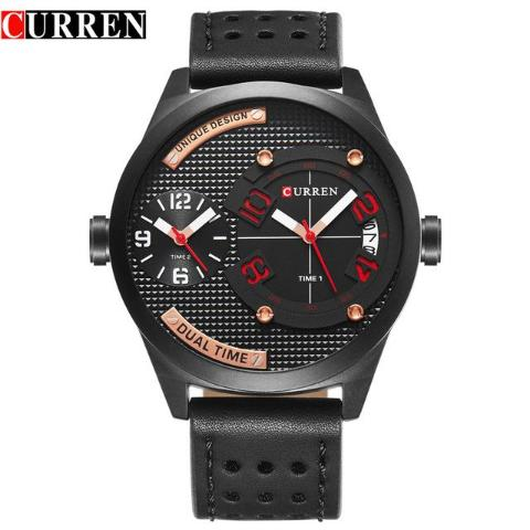 Curren Men's Dual Time Watch (Dial 4.9cm) - CUR 132