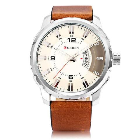 Curren Genuine Leather Quartz Watch (Dial 5.0cm) - CUR 137