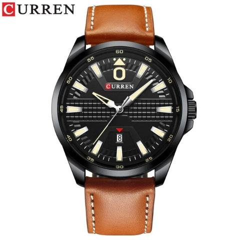 Curren Men's Leather Band Business Watch (Dial 4.7cm) - CUR182
