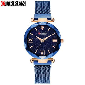 Curren Diamond Cut Women's Watch (Dial 2.8cm) - CUR175