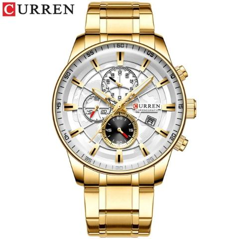 Curren New Chronograph Watch (Dial 4.7cm) - CUR187