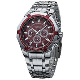 Curren Men's Stainless Steel Waterproof (Red 4.4cm Dial) - CUR118