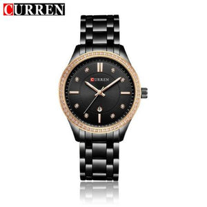 Curren Women's Auto Date Stainless Steel ( Dial 3.75cm) - CUR 142