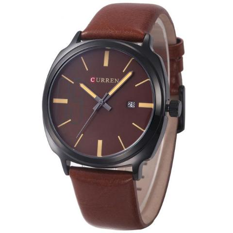 Curren Analog Date Classic Watch (Dial 4.2cm) - CUR125