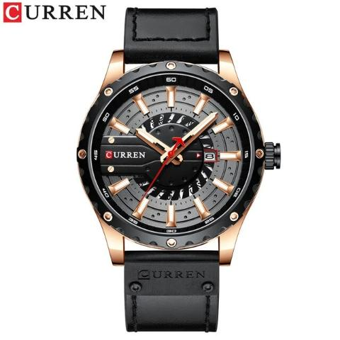Curren Men's Waterproof Leather Band Watch (Dial 4.8cm) - CUR209