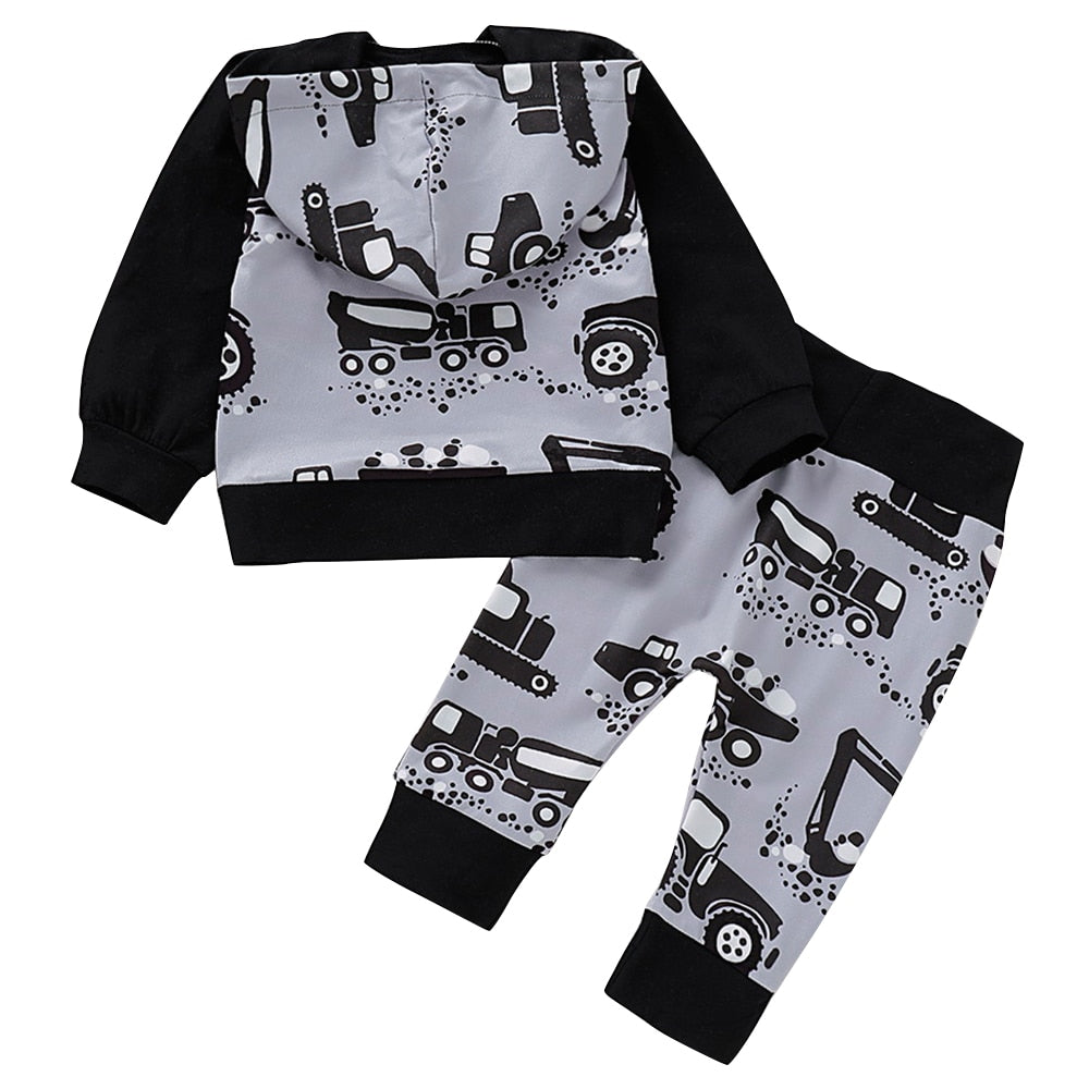 Construction Truck Hoodie and Pants