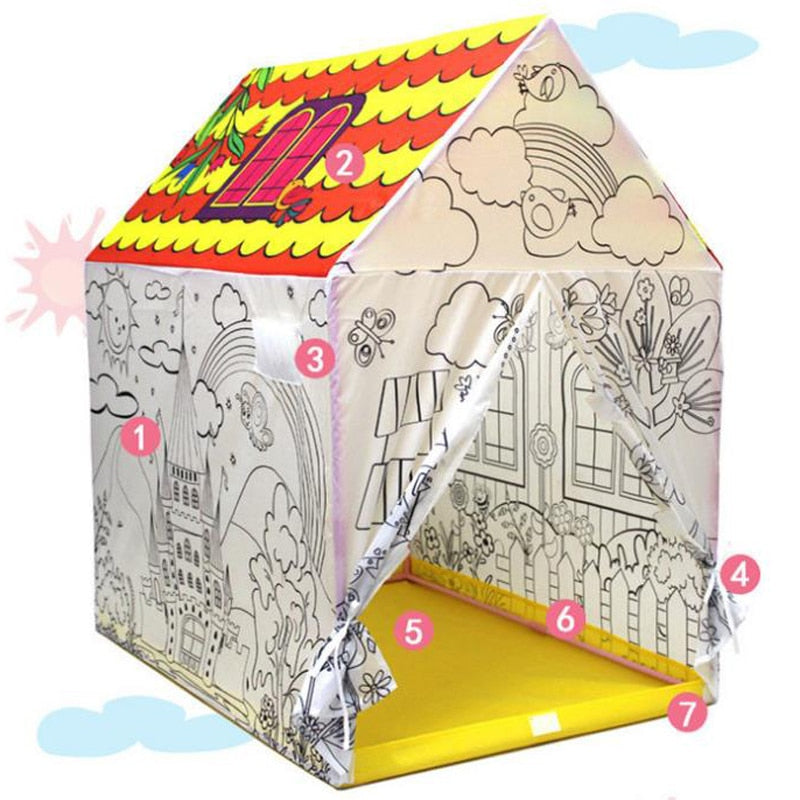 Pop Up Color It Play Tent