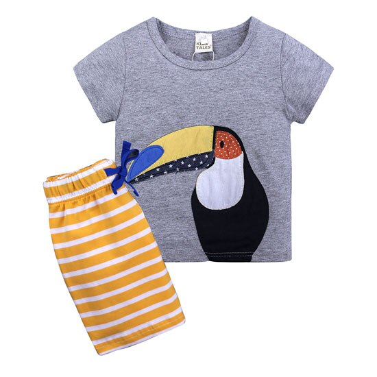 Toucan Tee and Board Shorts
