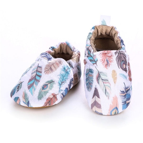 Fancy Feather Moccasins