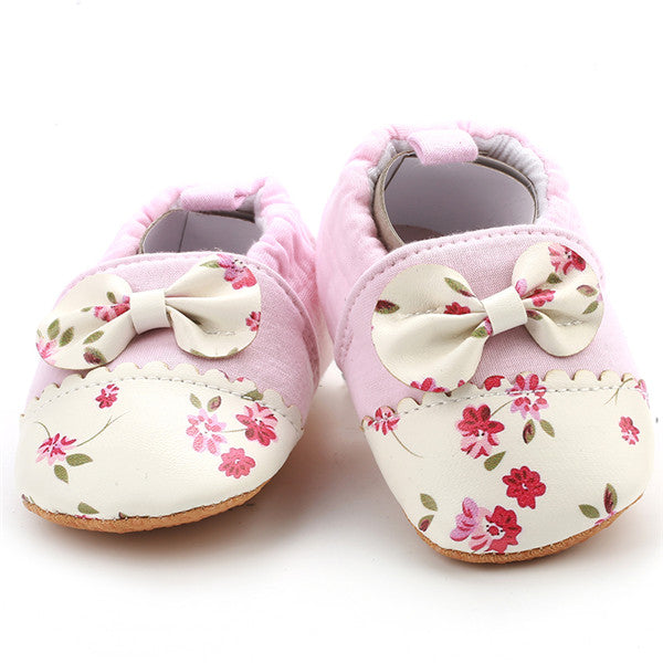 Floral Bow Tie Moccasin