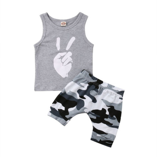 Peace Tank and Camo Harem Pants