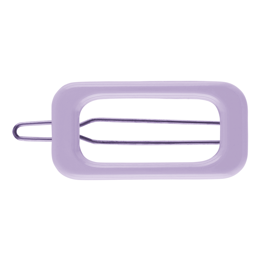 Rectangle Barette Hair Clip - Lavendar